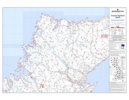 Postcode Sector Map 34 Scottish Highlands (North)